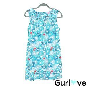 Lilly Pulitzer 6 Blue Sea Print Sleeveless Dress